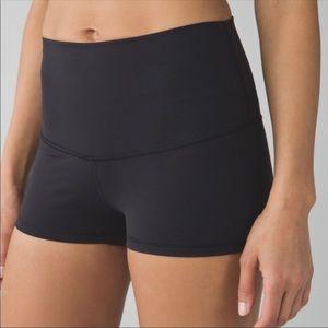 Lululemon boogie shorts roll down, high waisted